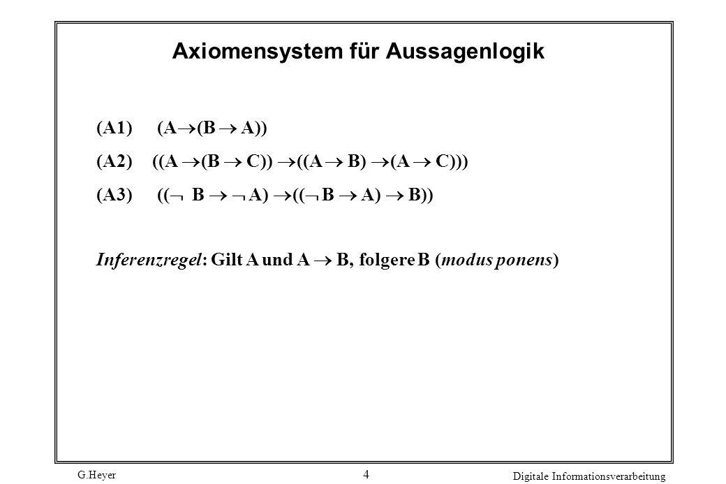 G.Heyer Digitale Informationsverarbeitung 5 Grammatiken Formale Sprachen können durch Grammatiken beschrieben werden.