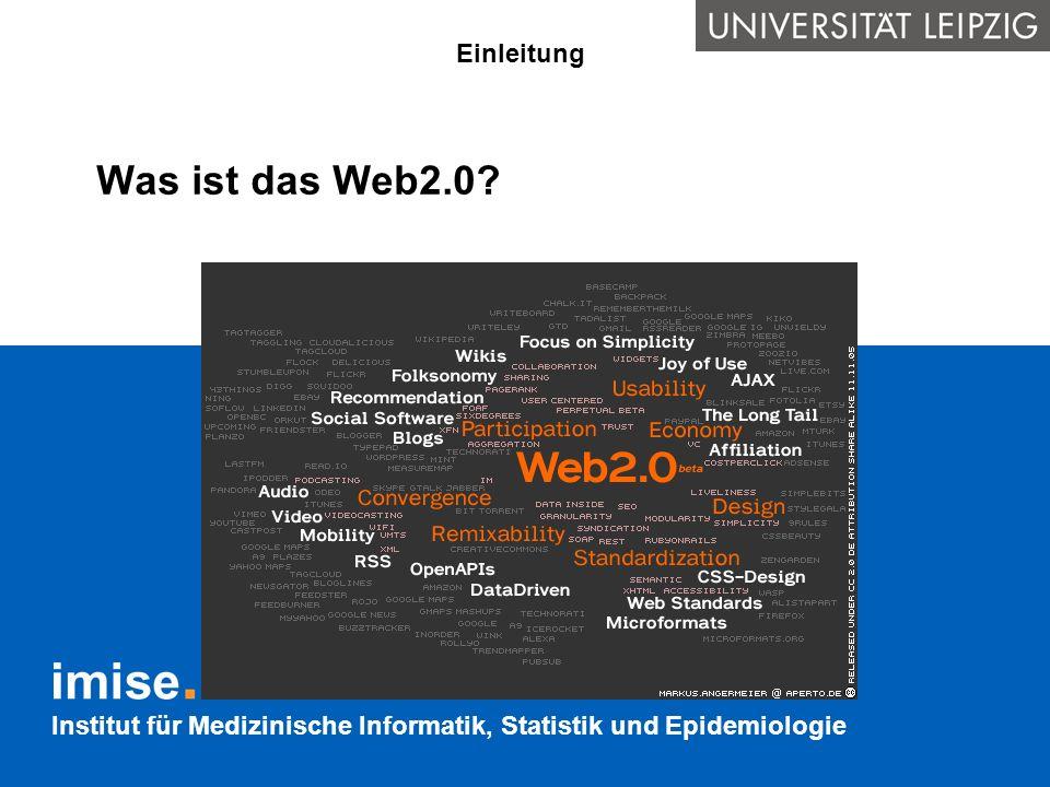 Institut für Medizinische Informatik, Statistik und Epidemiologie Das Web in Semantic Web Anbieter von semantisch ausgezeichneten Daten und die Nutzer dieser Daten sind nur lose miteinander gekoppelt.