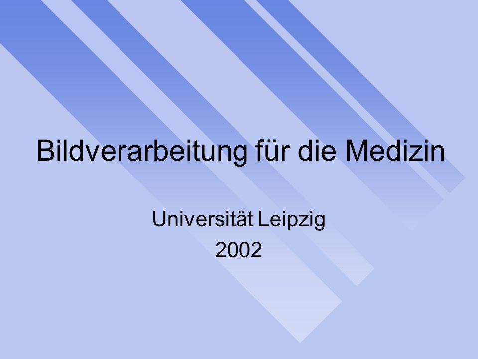 Bildverarbeitung für die Medizin Universität Leipzig 2002