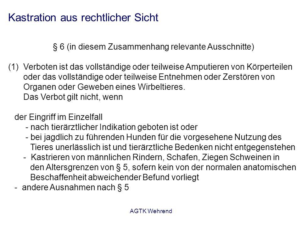 AGTK Wehrend Kastration Rüde