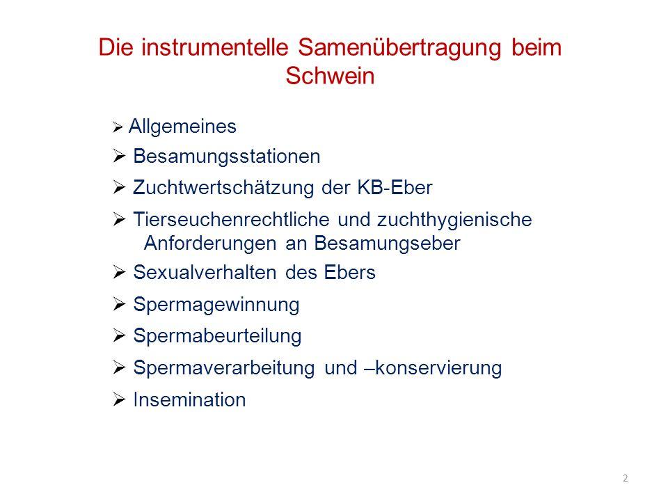Deckvermögen : Gewährfrist 6 Wochen ab Einstallungsdatum (guter Geschlechtstrieb, einwandfreie Annahme des Phantoms und Samenabgabe) 13 Busch/Holzmann, 2001
