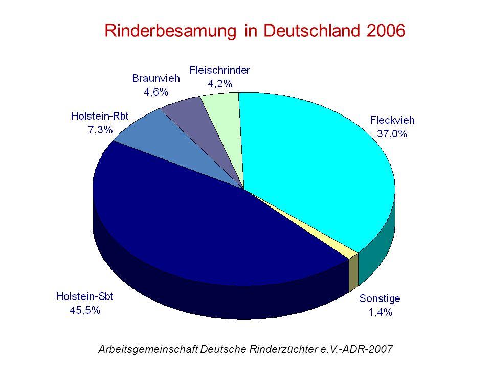 Rinderbesamung in Deutschland 2006 Arbeitsgemeinschaft Deutsche Rinderzüchter e.V.-ADR-2007