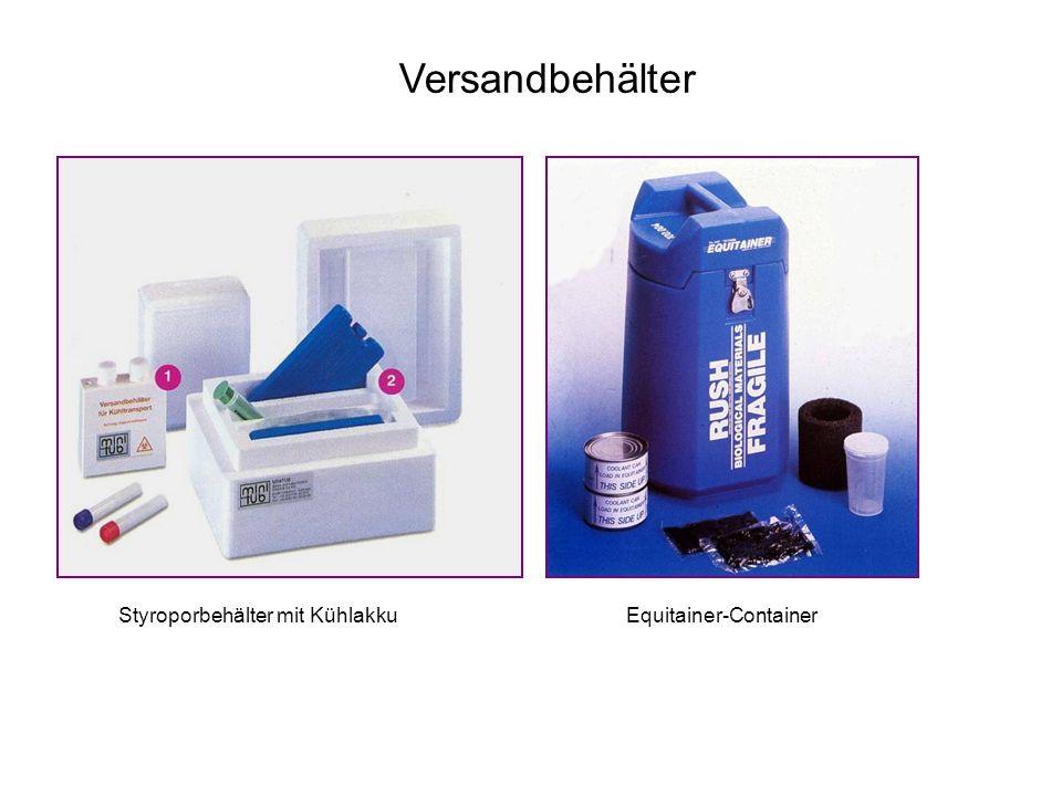 Versandbehälter Equitainer-ContainerStyroporbehälter mit Kühlakku