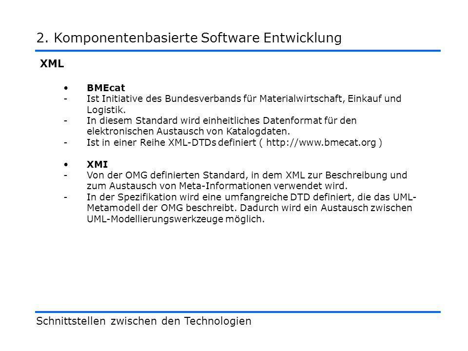 XML BMEcat -Ist Initiative des Bundesverbands für Materialwirtschaft, Einkauf und Logistik.