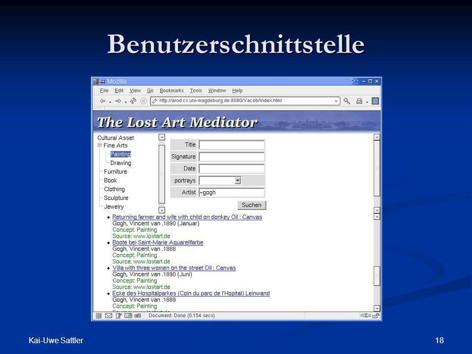 Kai-Uwe Sattler 18 Benutzerschnittstelle
