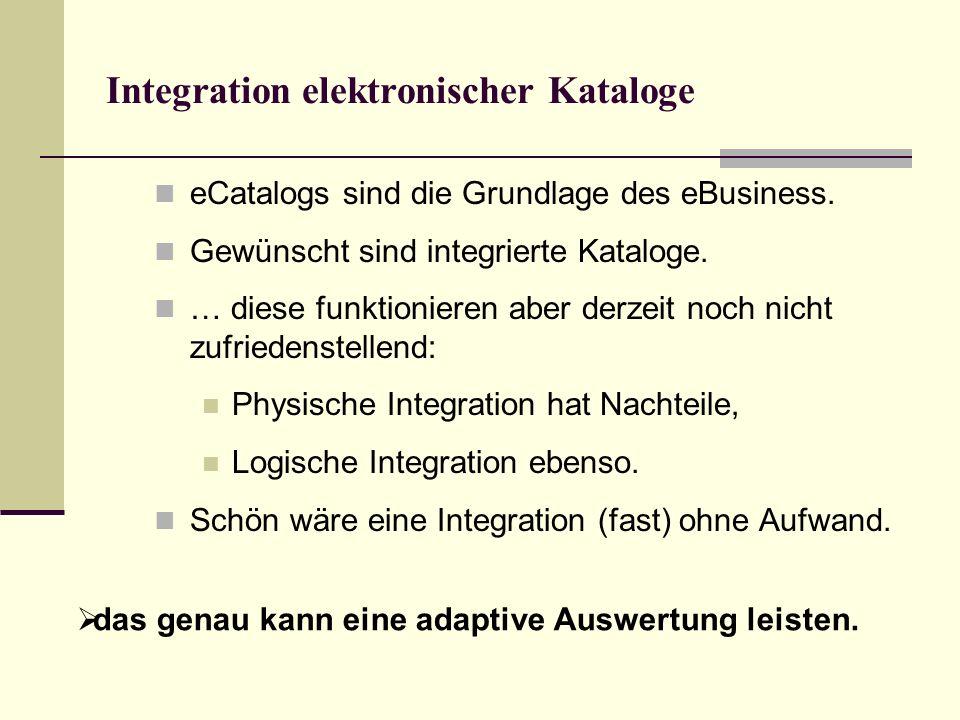 Integration elektronischer Kataloge eCatalogs sind die Grundlage des eBusiness.