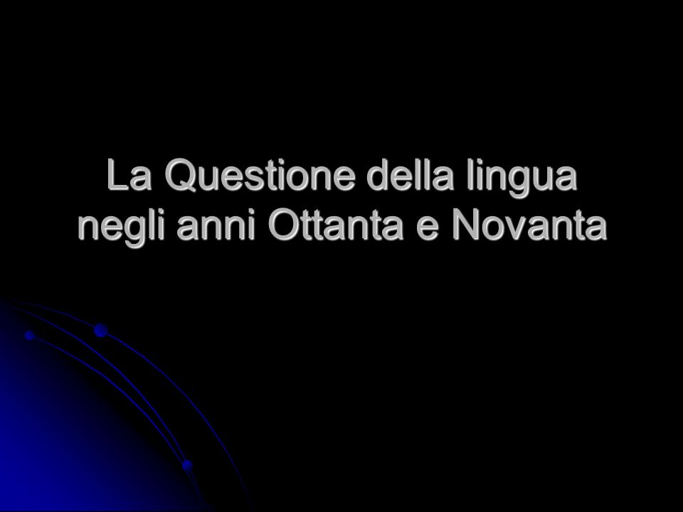 a) mantenimento dei dialetti Dialekt noch stark genug Einfluss der Nationalsprache zu widerstehen Dialekt noch stark genug Einfluss der Nationalsprache zu widerstehen größter Teil der Expansion des Italienischs bereits passiert größter Teil der Expansion des Italienischs bereits passiert Italienisch hat Höhepunkt seiner Schöpferkraft erreicht Italienisch hat Höhepunkt seiner Schöpferkraft erreicht Sprecher, die noch heute kein Italienisch sprechen oder familiäre / in- group Situationen weitgehend resistent gegenüber Nationalsprache Sprecher, die noch heute kein Italienisch sprechen oder familiäre / in- group Situationen weitgehend resistent gegenüber Nationalsprache letzter Kern der Dialektsprecher evtl.