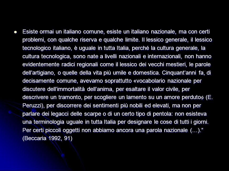 c) morte dei dialetti annähern der Dialekte an italiani regionali dadurch lexikalische Anreicherungen der Varietäten von Italienisch niedrige Varianten haben Dialekte vereinnahmt; alle sprachlichen Erfordernisse durch neue Sprache abgedeckt annähern der Dialekte an italiani regionali dadurch lexikalische Anreicherungen der Varietäten von Italienisch niedrige Varianten haben Dialekte vereinnahmt; alle sprachlichen Erfordernisse durch neue Sprache abgedeckt zentrale Fragen: Anzahl der heutigen Italienisch- bzw.