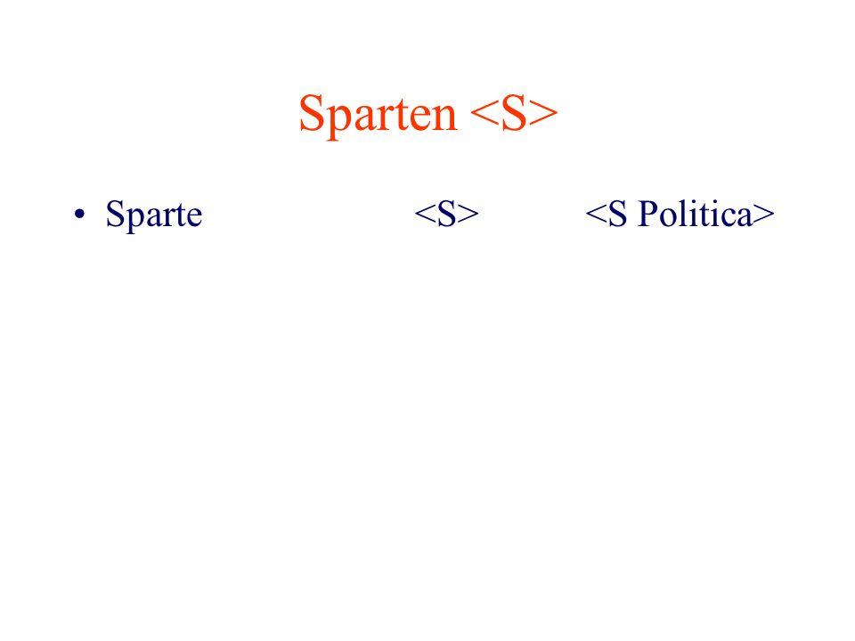 Sparten Sparte