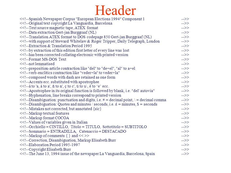 Header > >-->> >
