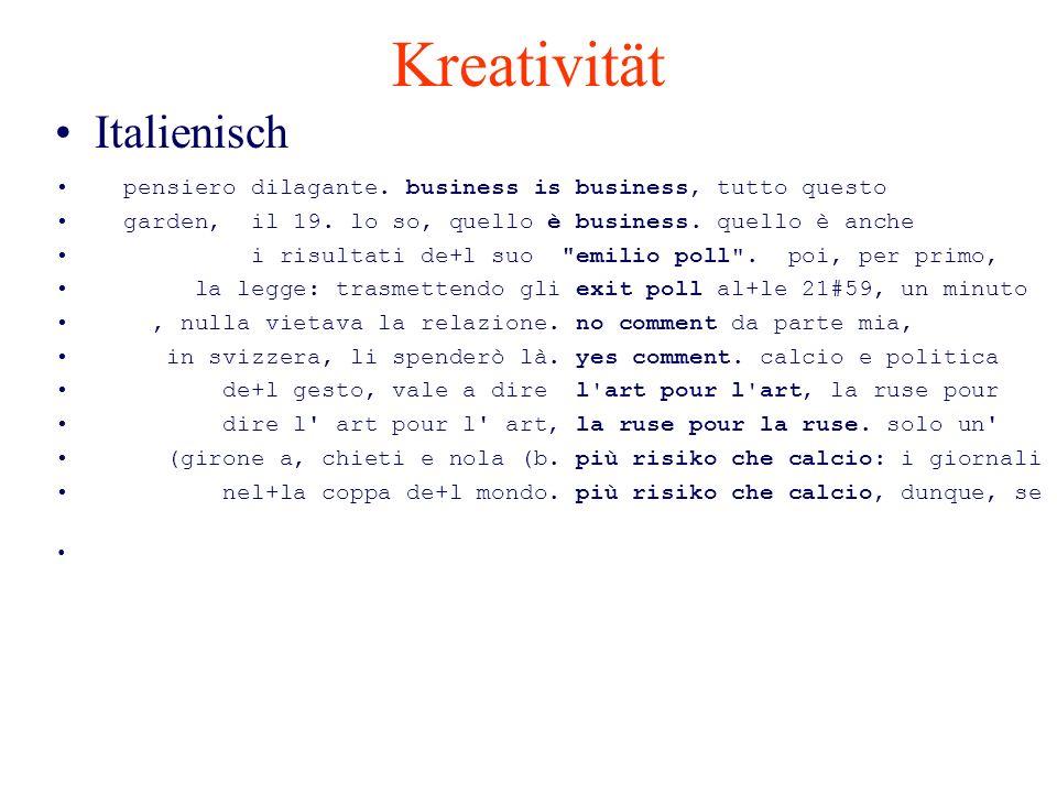 Kreativität Italienisch pensiero dilagante. business is business, tutto questo garden, il 19. lo so, quello è business. quello è anche i risultati de+