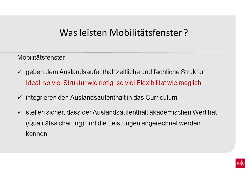 Was bringen Mobilitätsfenster.Stabile bzw.