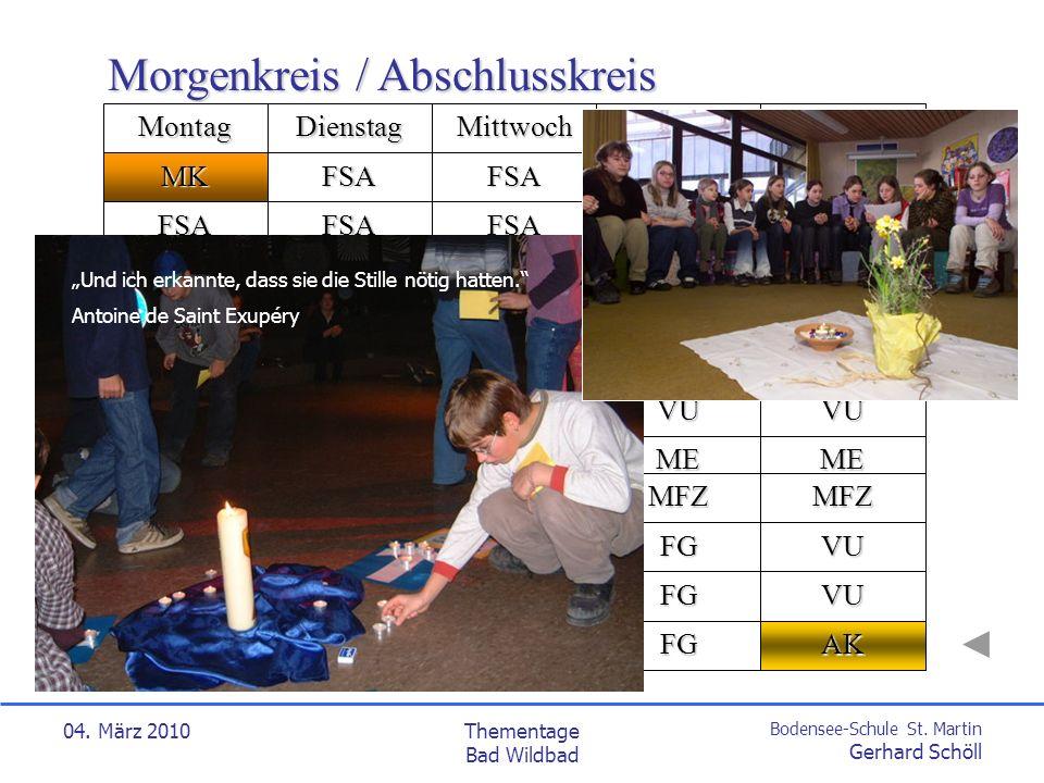 Bodensee-Schule St. Martin Gerhard Schöll 04. März 2010Thementage Bad Wildbad MFZ