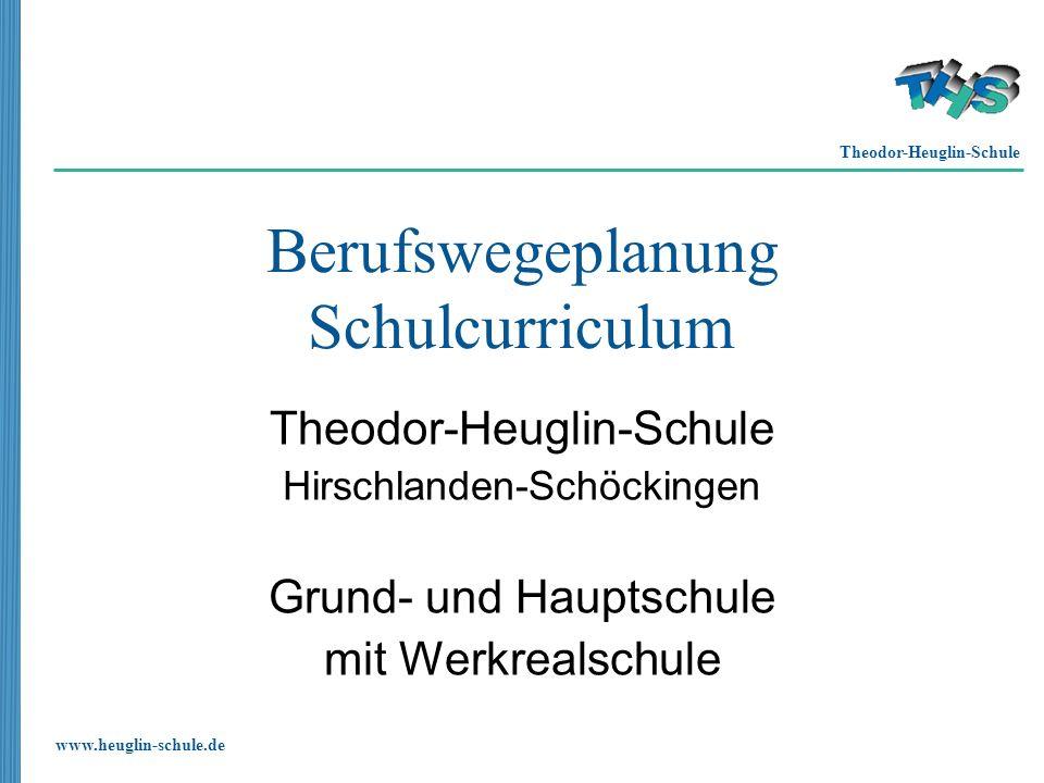 Theodor-Heuglin-Schule www.heuglin-schule.de Berufswegeplanung Schulcurriculum Theodor-Heuglin-Schule Hirschlanden-Schöckingen Grund- und Hauptschule