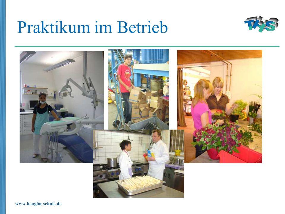 www.heuglin-schule.de Praktikum im Betrieb