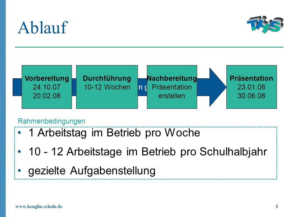 www.heuglin-schule.de 29 Bewertung Die Bewertung des Praxiszugs erfolgt im Wesentlichen nach den Kriterien von SProfil, welches zusammen mit der Firma TRUMPF entwickelt wurde.