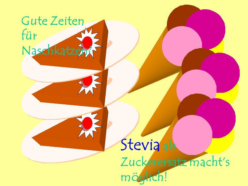 Gute Zeiten für Naschkatzen? Stevia als Zuckerersatz machts möglich!