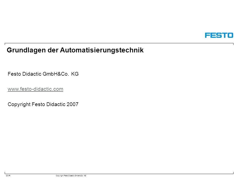 DC-R/Copyright Festo Didactic GmbH&Co. KG Grundlagen der Automatisierungstechnik Festo Didactic GmbH&Co. KG www.festo-didactic.com Copyright Festo Did