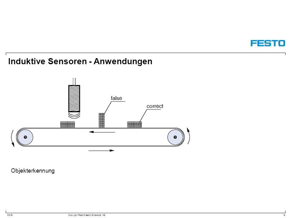 DC-R/Copyright Festo Didactic GmbH&Co. KG Induktive Sensoren - Anwendungen 19 Objekterkennung