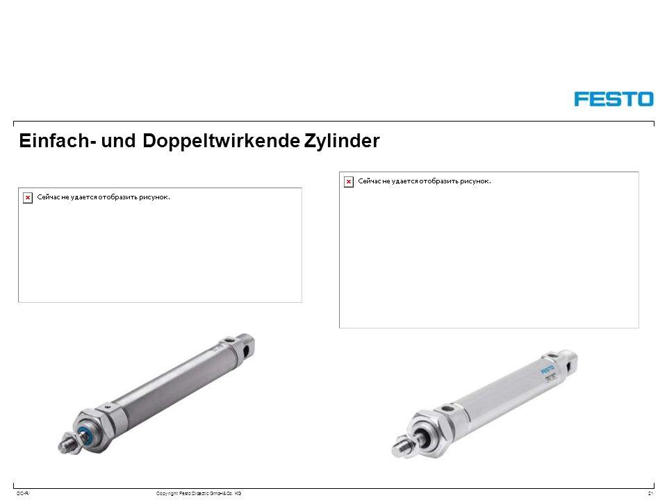 DC-R/Copyright Festo Didactic GmbH&Co. KG Einfach- und Doppeltwirkende Zylinder 21