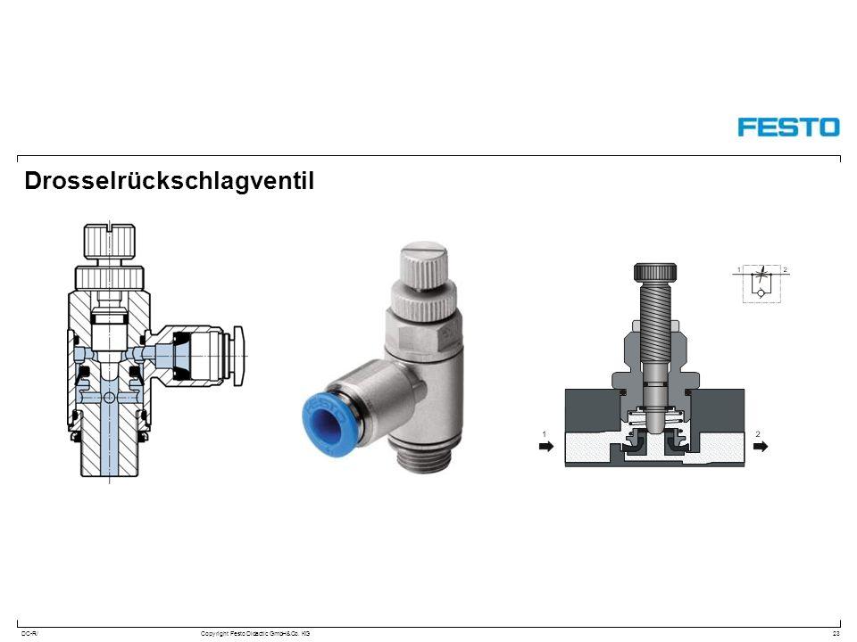 DC-R/Copyright Festo Didactic GmbH&Co. KG Drosselrückschlagventil 23