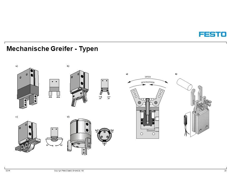 DC-R/Copyright Festo Didactic GmbH&Co. KG Mechanische Greifer - Typen 29