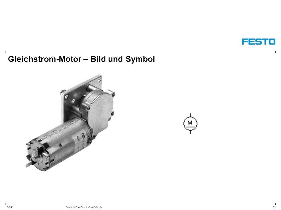 DC-R/Copyright Festo Didactic GmbH&Co. KG Gleichstrom-Motor – Bild und Symbol 35
