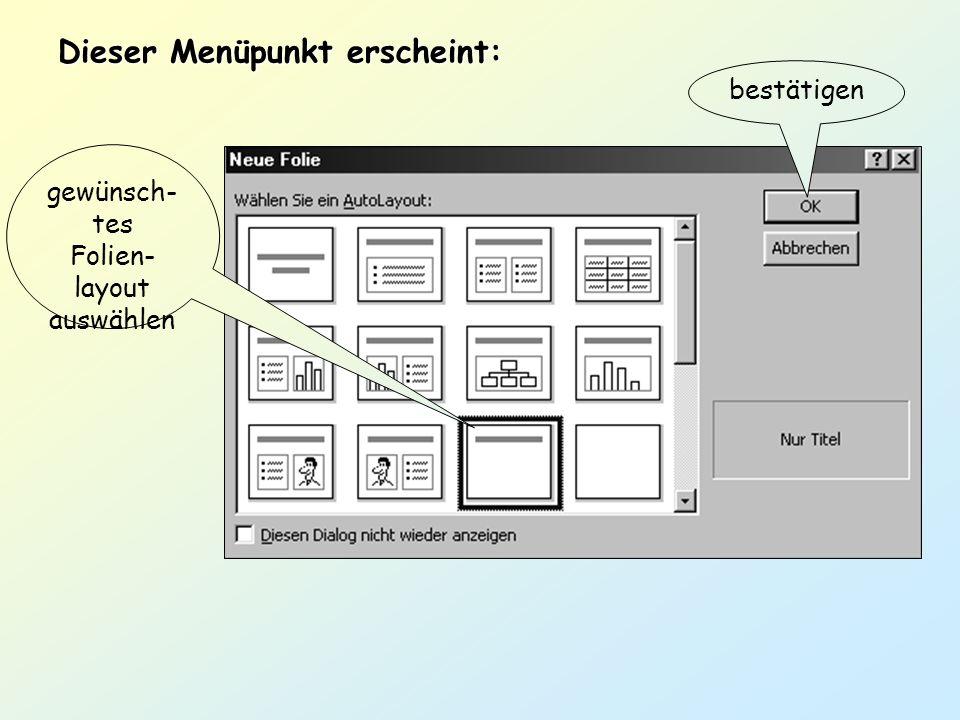 Grafik einfügen übers Menü: Einfügen – Grafik – ClipArt od. aus Datei Grafik auswählen und einfügen