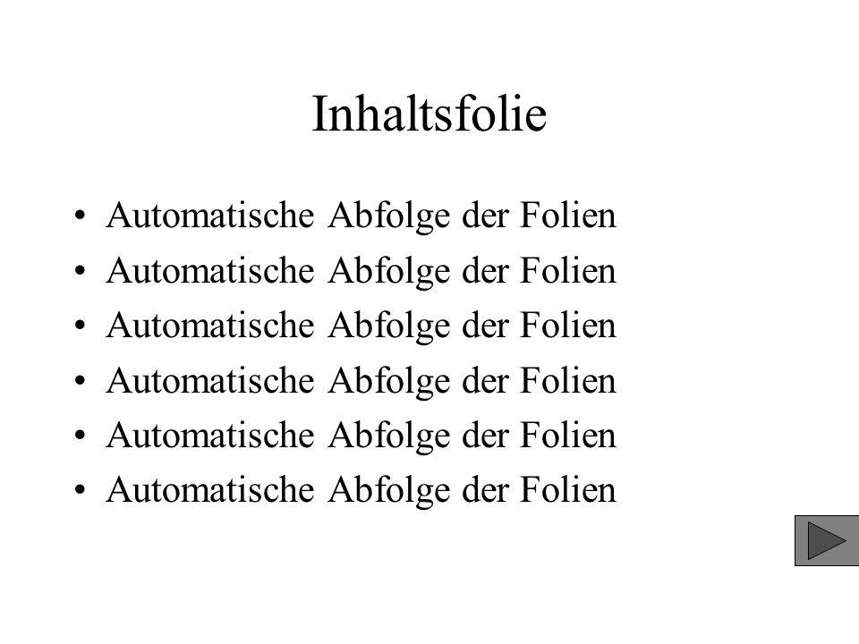 Automatische Abfolge der Folien Folie 4