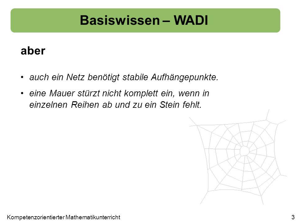 Basiswissen – WADI Diagnostizieren von Stärken und Schwächen 14 Aufgabe 3 prüft, ob die Bedeutung von Variable und Gleichung bekannt ist.