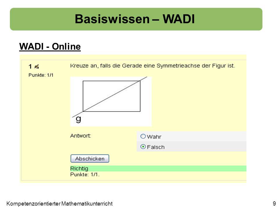 Basiswissen – WADI WADI - Online 9Kompetenzorientierter Mathematikunterricht