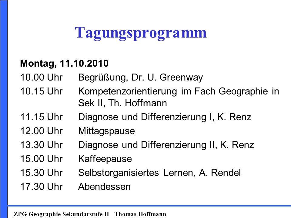 Tagungsprogramm Montag, 11.10.2010 10.00 UhrBegrüßung, Dr.