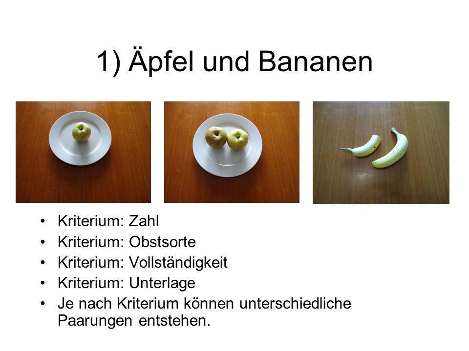 1) Äpfel und Bananen Finden Sie unter [mehreren] Konstellationen jeweils ein passendes Beispiel, um die folgenden sprachlichen Operationen zu üben, und führen Sie diese Operationen anschließend schriftlich in jeweils einem einzigen Satz durch: –Geltungsbereich einer Aussage eingrenzen –systematische Ordnung herstellen und begründen