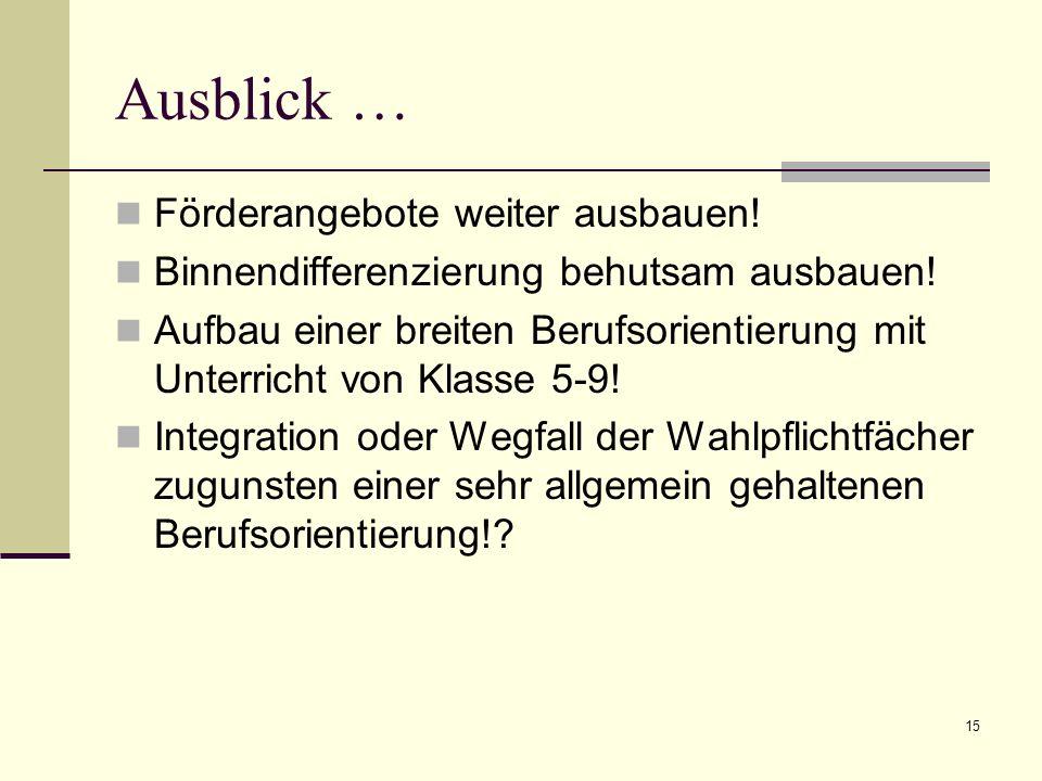 Ausblick auf die WRS … Veränderte Grundschulempfehlung: Voraussichtlich keine Klasse 5 mehr!.