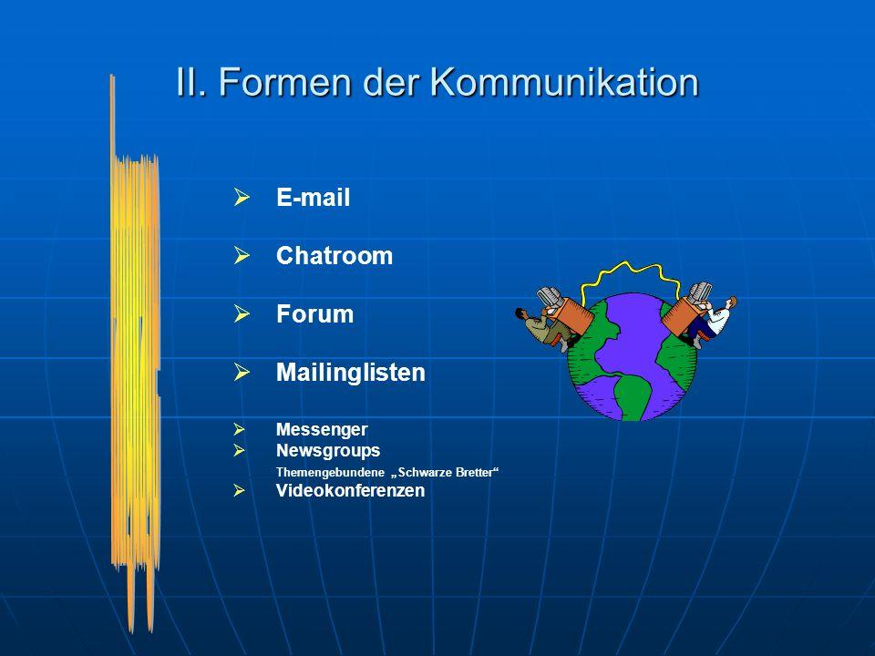I.Vorteile der elektronischen Kommunikation (3) 5.
