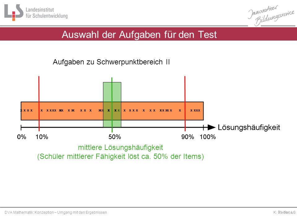 Platzhalter DVA Mathematik: Konzeption – Umgang mit den Ergebnissen K. Reiber, LS 31 - Reiber x x x x x x x xx x xx x x x x x xx xxx x xx x x x x x x