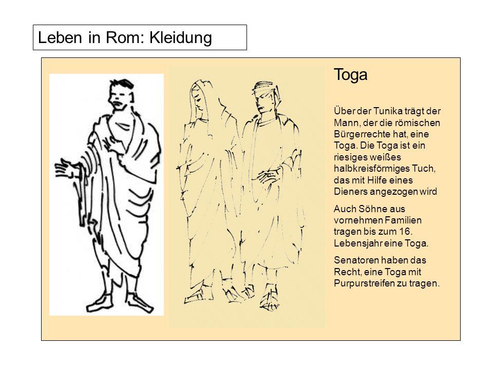 Leben in Rom: Kleidung Was für die Männer die Toga ist, ist für die Frauen die Stola.