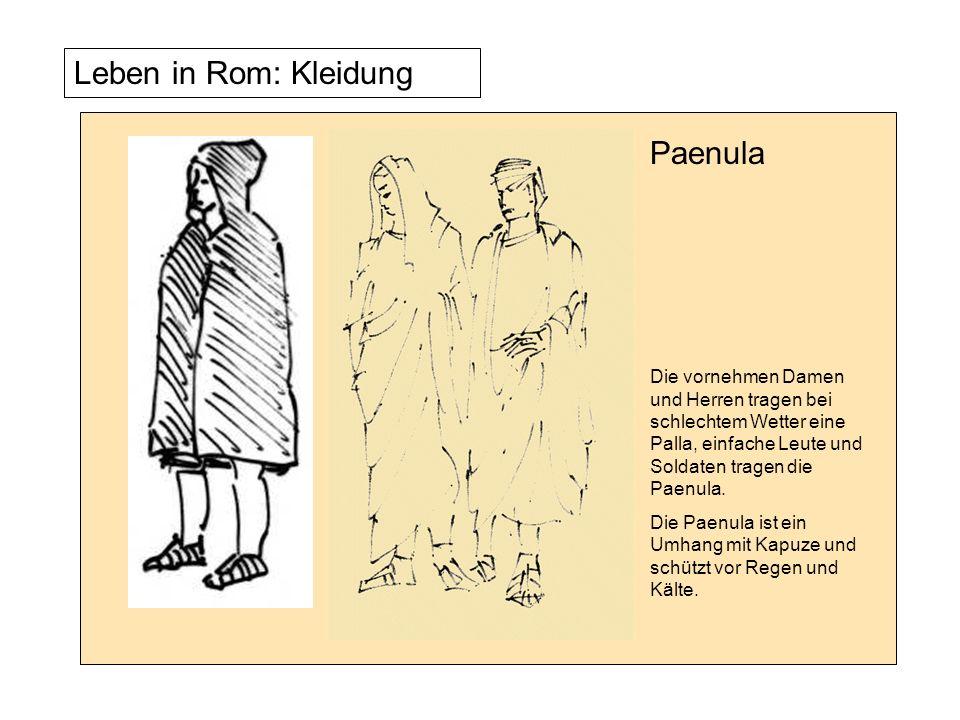 Leben in Rom: Kleidung Die Lacerna ist ein Mantel.