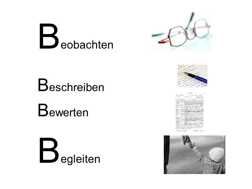 B eobachten B eschreiben B ewerten B egleiten