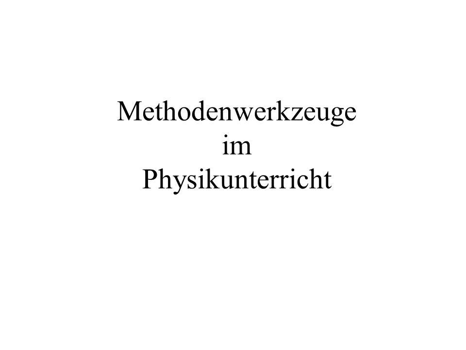 Methodenwerkzeuge im Physikunterricht
