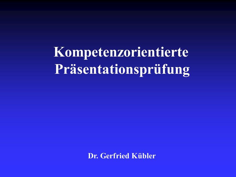 Dr.Gerfried Kübler2 Warum (nochmals) dieses Thema.