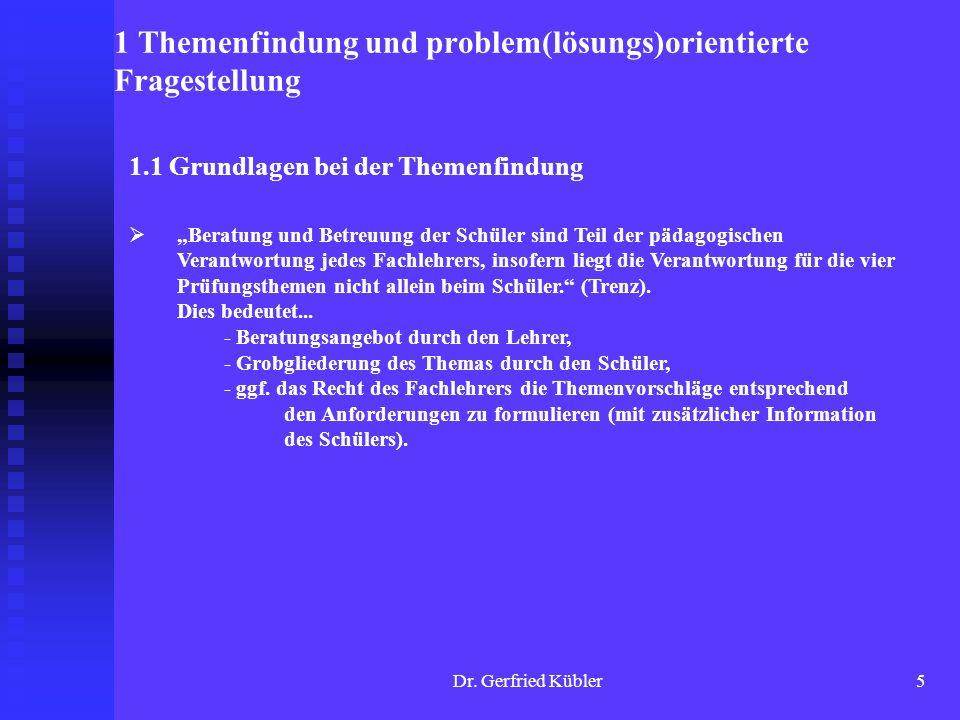 Dr. Gerfried Kübler16 Ihre Fragen, Anregungen, Diskussionen...