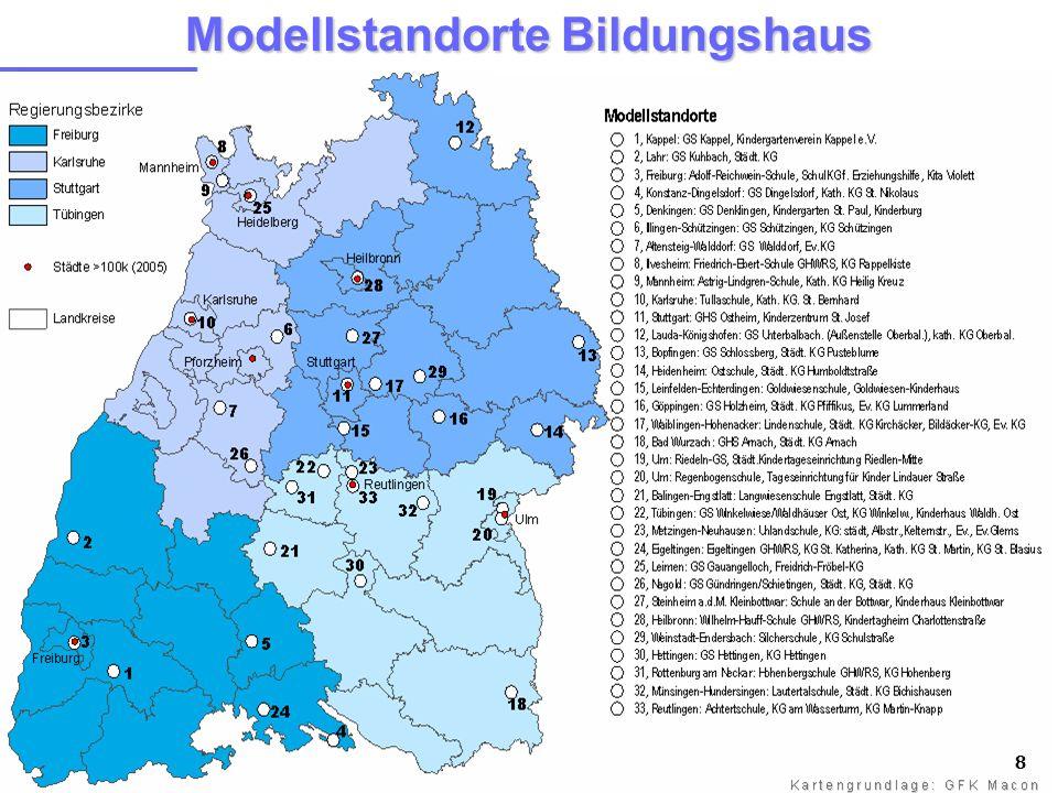 8 Modellstandorte Bildungshaus 8