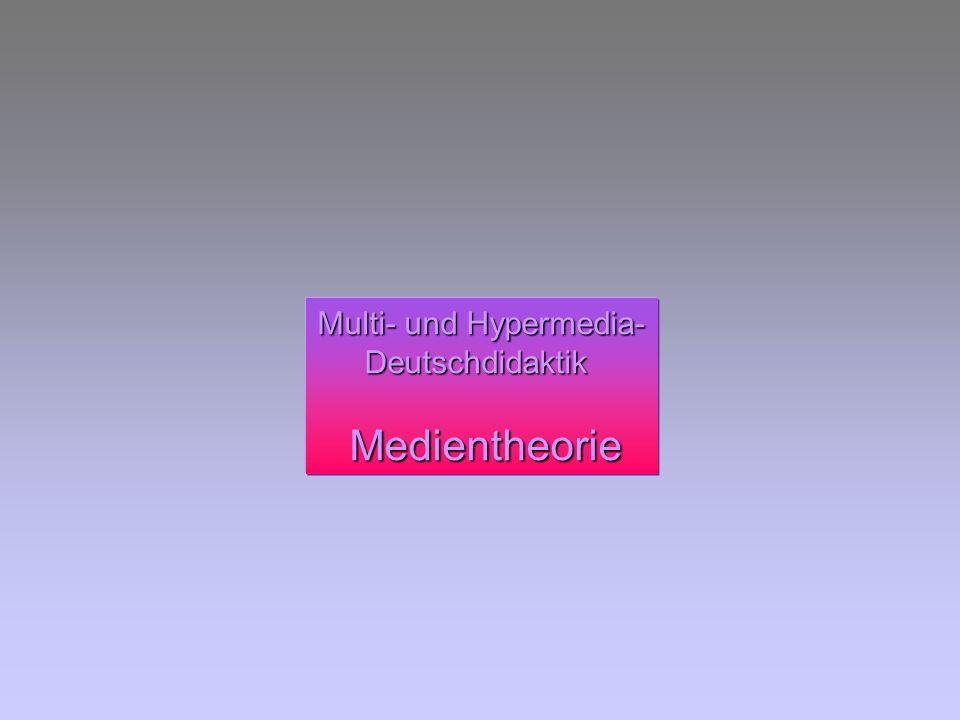 Multi- und Hypermedia- Deutschdidaktik Medientheorie