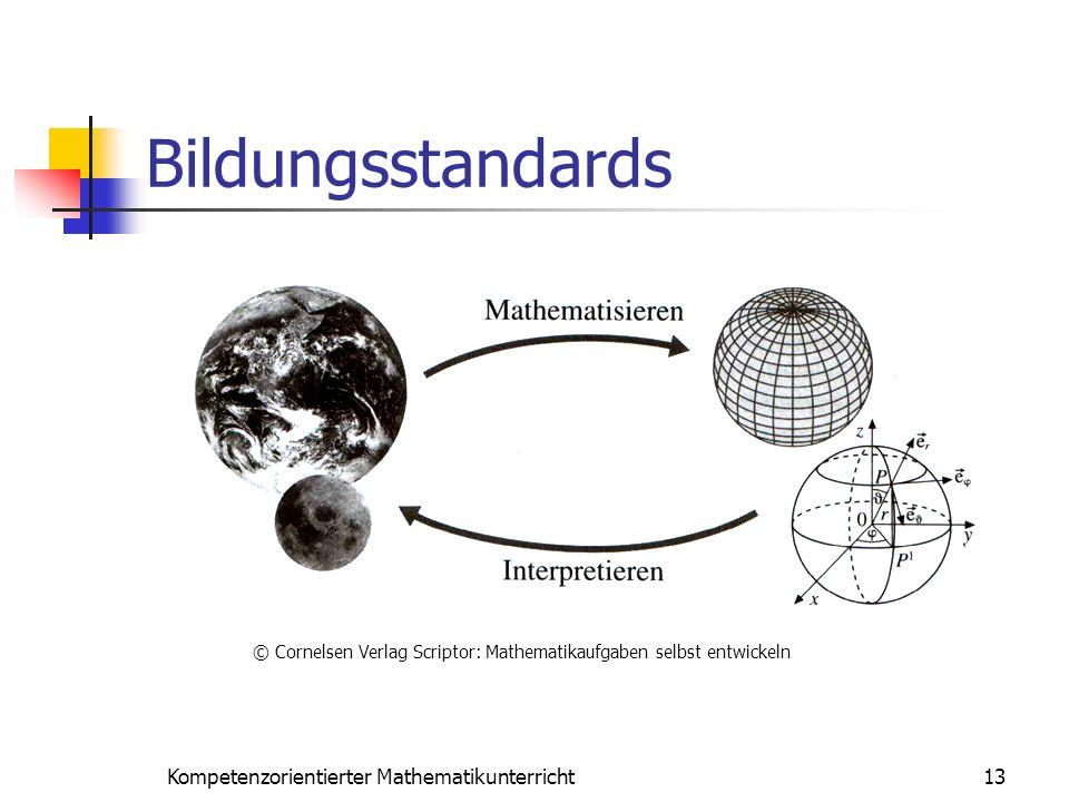 Bildungsstandards 13Kompetenzorientierter Mathematikunterricht © Cornelsen Verlag Scriptor: Mathematikaufgaben selbst entwickeln