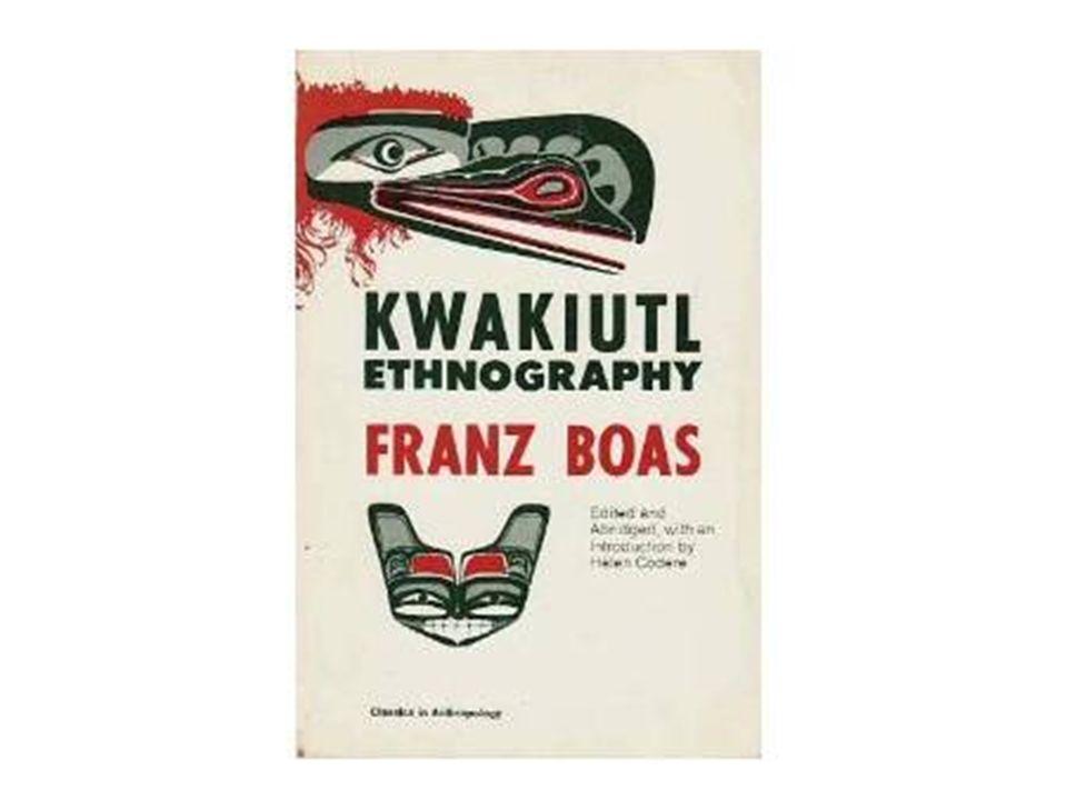 Franz Boas Einer der ersten Ethnologen der gezielte Feldforschungen durchführte Theoretische Ausrichtung des Diffusionismus, Grundstein für Kulturrelativismus Keine bestimmenden Ethnographien, möglichst genaue Analysen Breite Datensammlung, bei Analyse Berücksichtigung von Sprache, Geschichte usw.