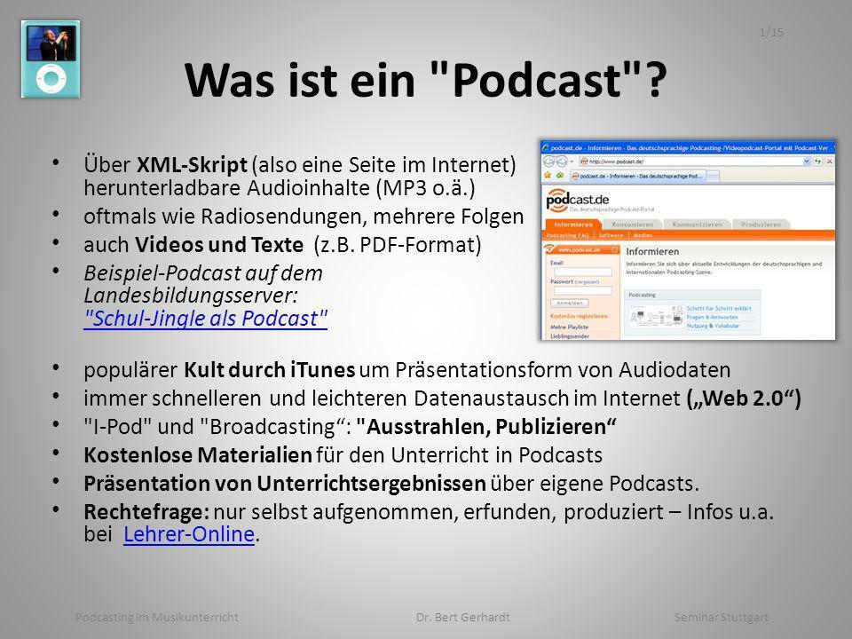 Was ist ein Podcast .