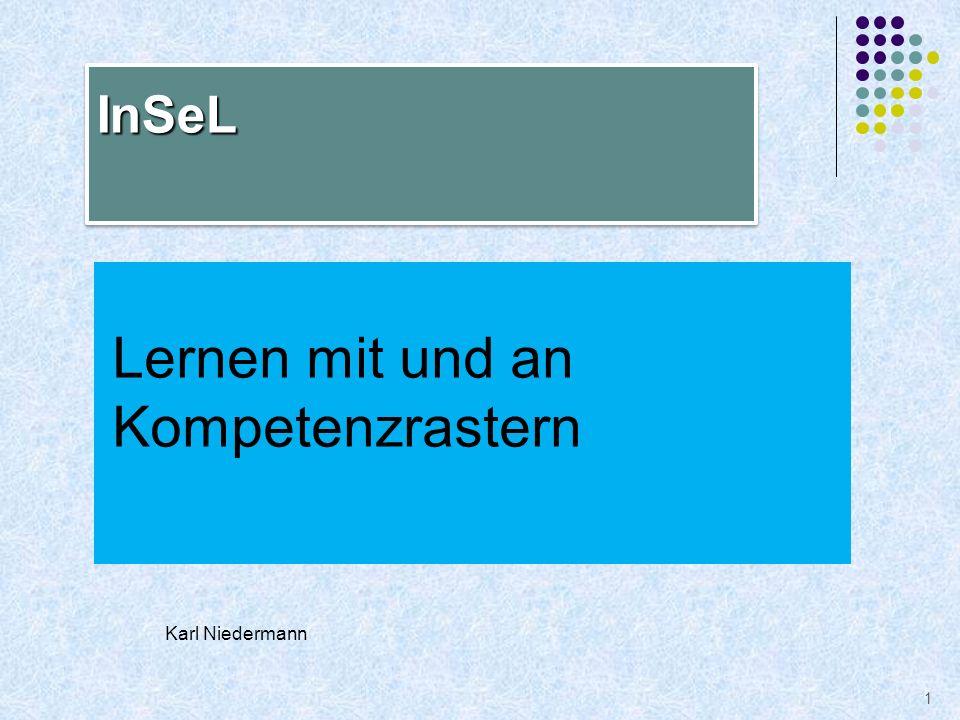 Lernen mit und an Kompetenzrastern 1 InSeLInSeL Karl Niedermann