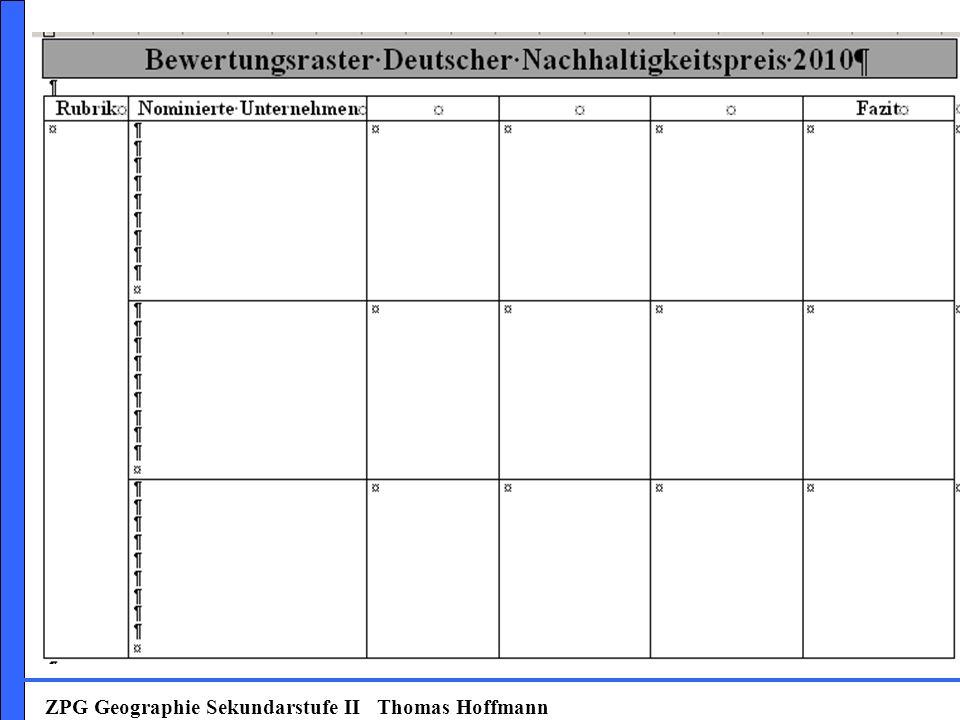 ZPG Geographie Sekundarstufe II Thomas Hoffmann