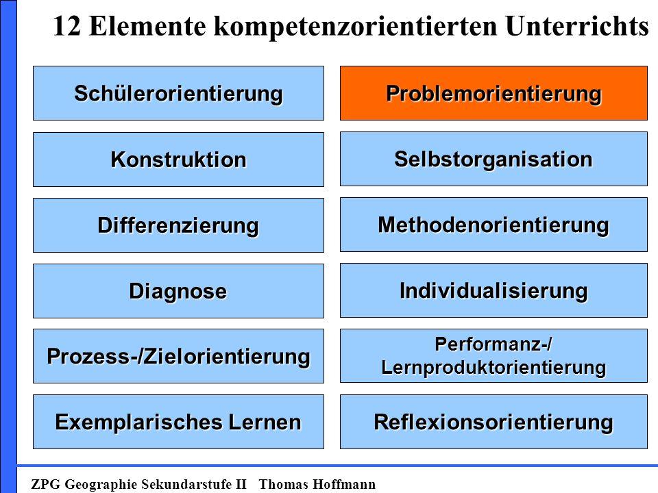 SchülerorientierungProblemorientierung Konstruktion Selbstorganisation Prozess-/Zielorientierung Exemplarisches Lernen Methodenorientierung Individual